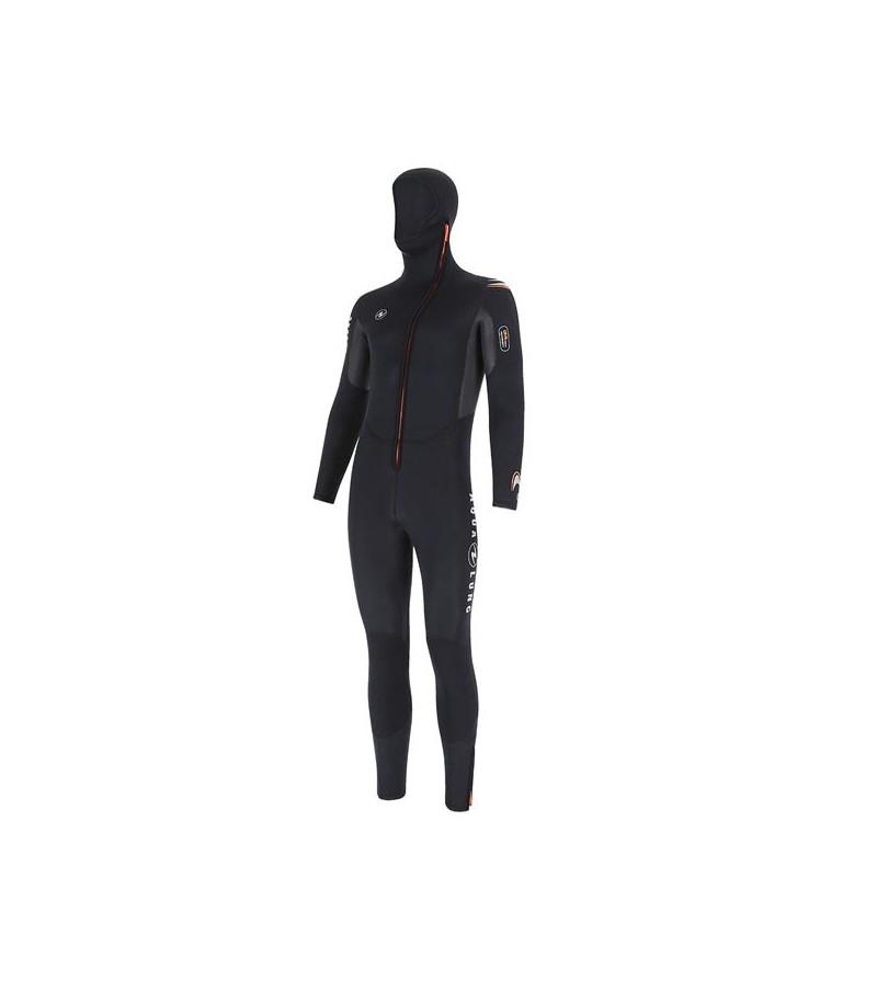 Combinaison de plongée homme monopièce avec cagoule Aqua Lung Dive en néoprène 6mm pour usage intensif en eau tempérée
