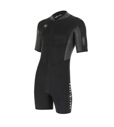 Combinaison Shorty homme avec cagoule Aqua Lung Dive en néoprène 4mm sans pétrole pour la plongée & snorkeling en eau chaude