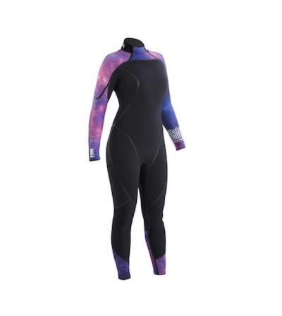 Combinaison Femme monopièce humide de plongée Aqua Lung Aquaflex en néoprène 5mm ultra-souple, zip dorsal, sans cagoule