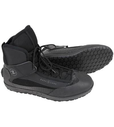 Chaussures à lassets Aqualung Boots Evo4 à tige mi-haute avec fixe-palme pour compléter les vêtements sec