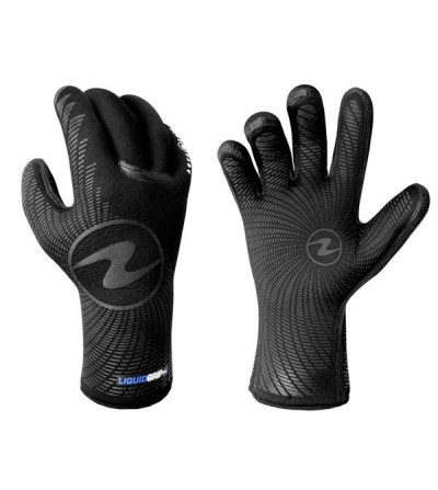 Les gants de plongée étanches Aqua Lung Liquid Grip en néoprène 5mm avec renfort en caoutchouc liquide et zone de grip gaufrée