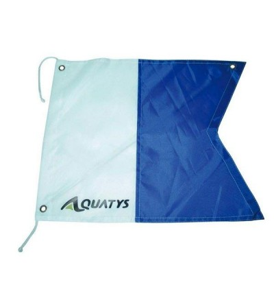 Pavillon Alpha Aquatys 40x35cm de signalisation de surface plongeur avec raidisseur pour une visibilité parfaite même sans vent
