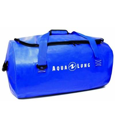 Sac étanche Aqua Lung Defense 85 litres en tarpaulin bleu avec purge de vidange et poignées de portage