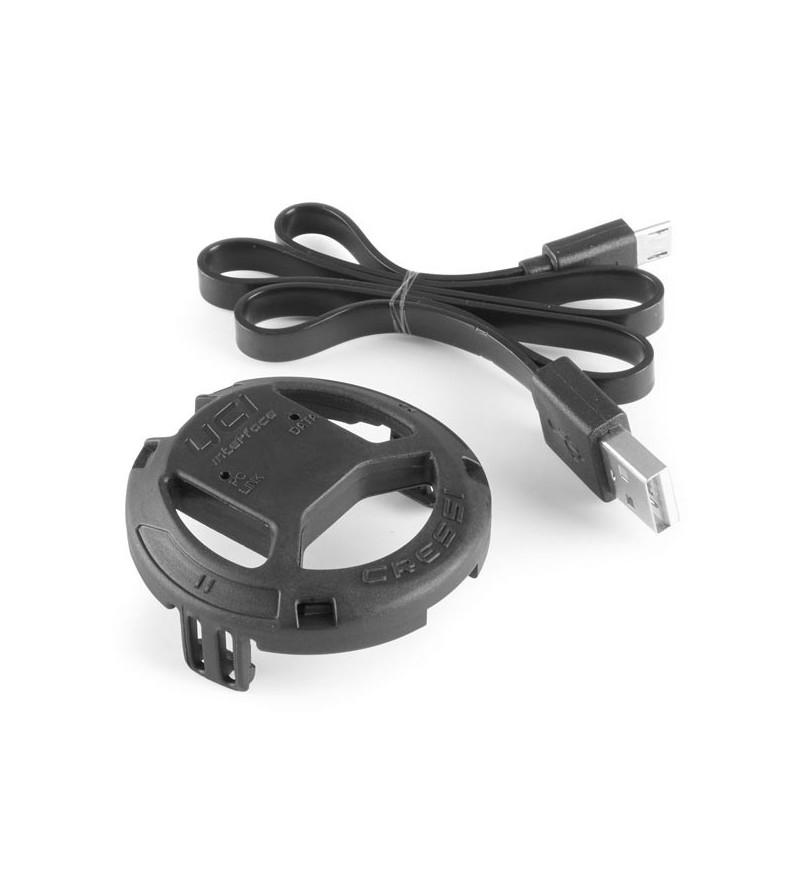 Interface USB Cressi pour montre ordinateur Cressi Goa/Cartesio/Neon de plongée, Apnée / Chasse sous-marine
