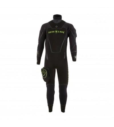 Vêtement semi-sec de plongée Aqualung Iceland Confort en néoprène ultrastrech 7mm avec cagoule séparée pour homme