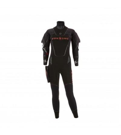 Vêtement semi-sec de plongée Aqualung Iceland Confort en néoprène ultrastrech 7mm avec cagoule séparée pour femme