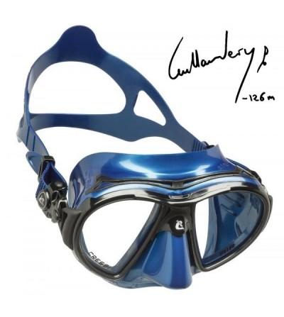 Nouveauté 2018 - Masque Cressi Air Bleu héritier du brevet Nano pour la chasse sous-marine, l'apnée. Ligne guillaume Nery -126m