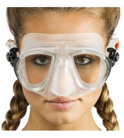 Masque sans cerclage à petit volume Cressi Calibro en silicone  avec système anti-buée - face