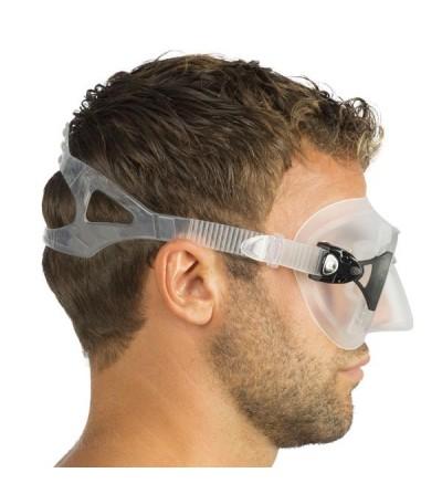 Masque sans cerclage à petit volume Cressi Calibro en silicone  avec système anti-buée - profil