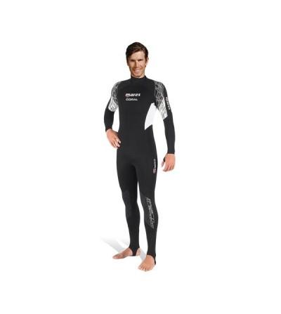 Combinaison monopièce homme pour eau tropicale Mares Coral 0.5mm pour la plongée & snorkeling ou comme sous-combinaison
