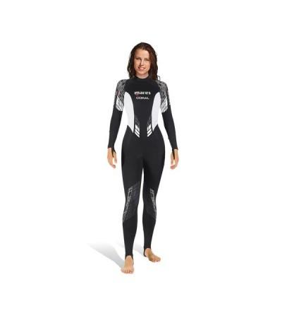 Combinaison monopièce femme pour eau tropicale Mares Coral She Dives 0.5mm pour plongée & snorkeling ou comme sous-combinaison