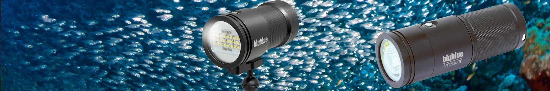 Eclairages, phares et lampes de plongée