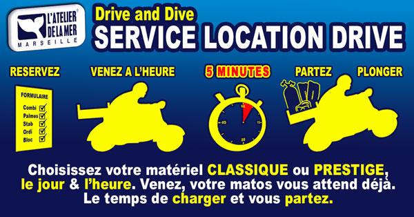 Drive and Dive : Service de location matériel de plongée unique à Marseille - Récupérez votre matériel en drive