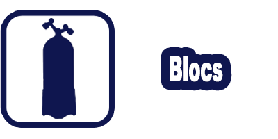 Logo location bloc & bouteilles de plongée 10/12/15 litres Marseille