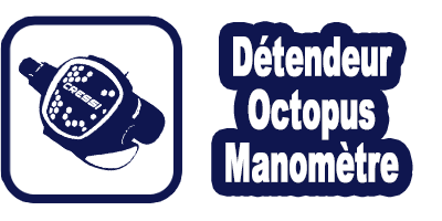 Logo location pack détendeur octopus & manomètre de plongée Marseille
