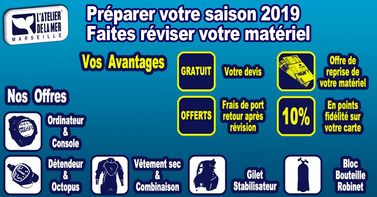 En 2019, plongez en toute sécurité grâce à notre service SAV d'entretetien et révision de matériel de plongée à Marseille