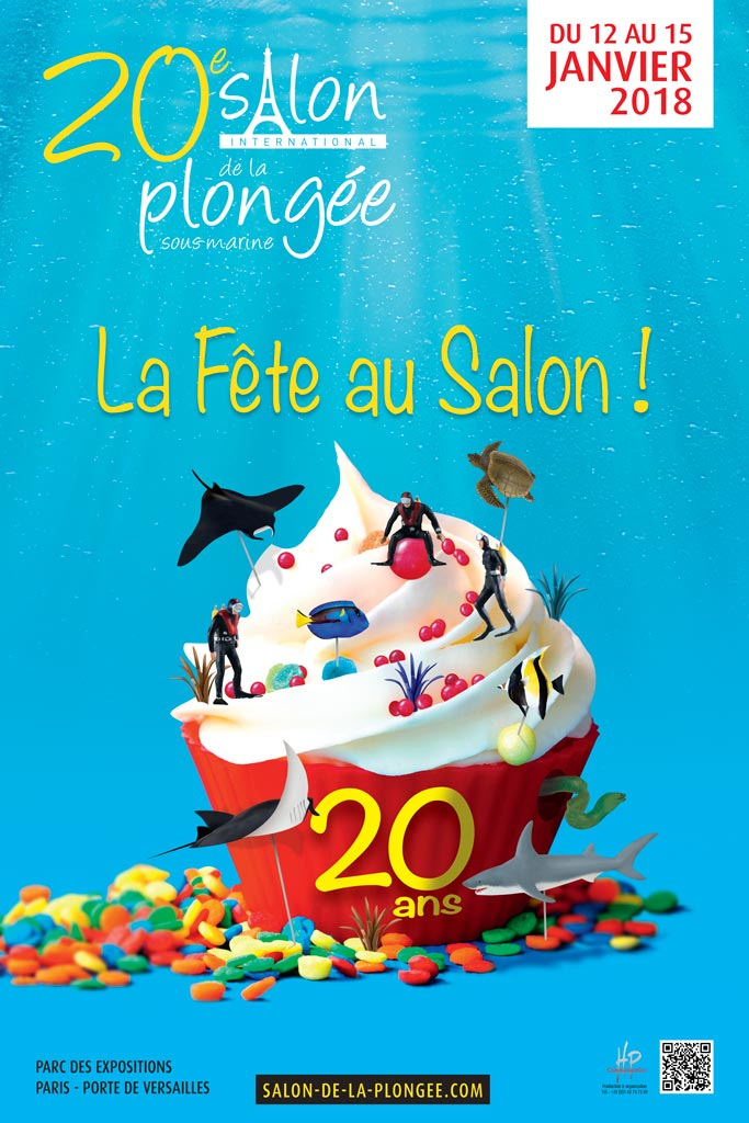 Visuel salon de la plongée 2018 Paris